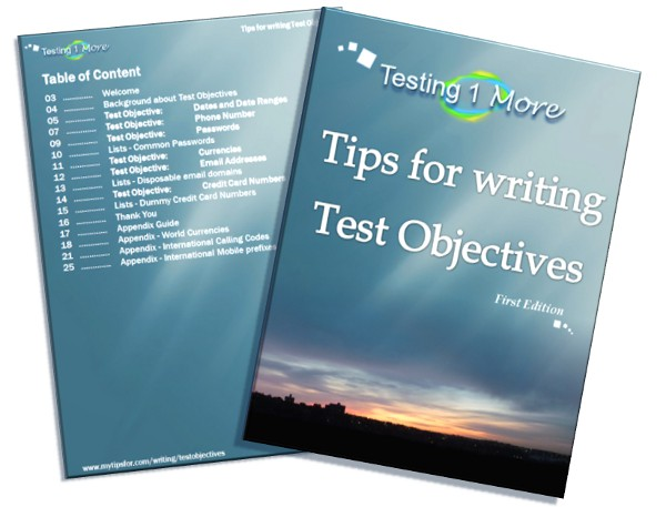 eBook - Tips for writing Test Objectives, First Edition